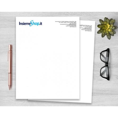 Carta intestata personalizzata, stampa quadricromia
