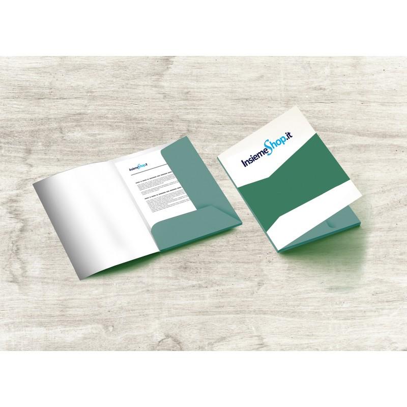 Cartelline con o senza costola stampa fronte